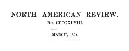 North American Review, March 1894