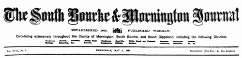 South Bourke and Mornington Journal, May 3, 1882