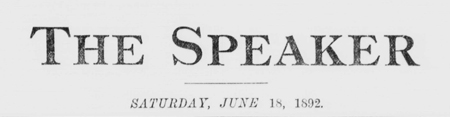 The Speaker, June 18, 1892