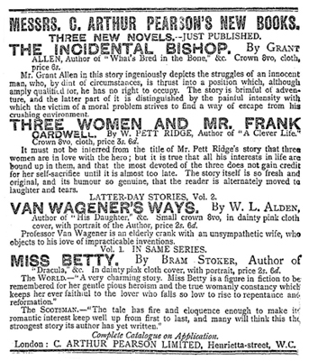 Miss Betty Publication Notice