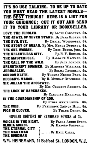 The Jewel of Seven Stars Publication Notice
